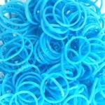 หนังยางถัก loom band Glow in the Dark 100% Silicone / Blue 600 เส้น(GB)