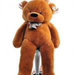ตุ๊กตาหมีน้ำตาลเข้มลืมตา1.4 เมตร