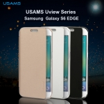 เคสฝาพับ Samsung Galaxy S6 Edge ของ USAMS Uview Series Leather Case