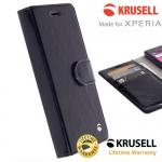 เคสฝาพับ Xperia X/X perfprmance ของ Krusell Ekero FolioWallet 2in1