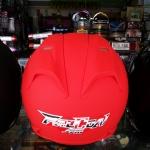 หมวกกันน็อค Falcon (ทรง Titan1) สีแดงด้าน