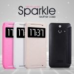 เคสฝาพับ HTC One E8 ของ Nillkin Sparkle Case