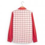 เสื้อเชิ้ตชีฟองลายตาราง สีแดง(Red)