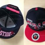หมวกแก๊ปฮิปฮอป สีดำแดง ลาย Chicaco Bulls