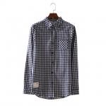 เสื้อเชิ้ตลายสก๊อต 4 สีกรมท่า(Dark Blue)