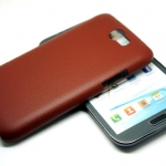 Jzzs Leather Beown For Samsung Galaxy Note 2