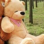 ตุ๊กตาหมีน้ำตาลอ่อนหลับตา1.4เมตร