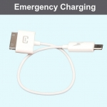 Emergency Charging Cable (Micro USB - iPhone 4)