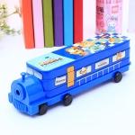 กล่องดินสอรถไฟสีน้ำเงิน Animal Friends