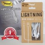สายชาร์จ Dapad - Lightning USB Cable สีขาว สำหรับ iPhone 4 4S iPad 2 3 4