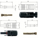 cable & connector(ตัวเชื่อมสายไฟ) แบบ MC4