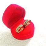 แหวนสแตนเลสสีทองสลักชื่อ