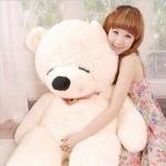 ตุ๊กตาหมีสีขาวหลับตา1.4เมตร