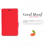 Nillkin Leather Red Cover Case For Nokia Asha 501