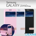 เคสฝาพับ Samsung Galaxy Grand Prime ของ USAMS Muge Series Slim Soft Leather Case