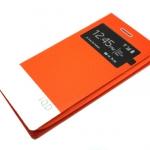 เคสฝาพับ HTC One M8 ของ iQD Leather Filp Cover Case - สีส้ม