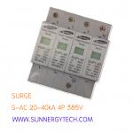 Surge แบบ SPD_S-AC ขนาด 20-40kA 4P 385V white
