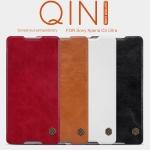 เคสฝาพับ Xperia C5 Ultra ของ Nillkin Qin Leather Case