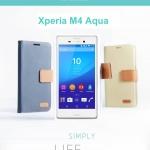 เคสฝาพับ Xperia M4 Aqua ของ Roar Simply Life Diary Case