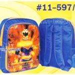 """กระเป๋านักเรียน HighSchool 15x12x4.5"""" การ์ตูน PVC สะท้อนแสง กุ้นเงิน"""