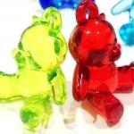 หมีนั่งสีใส 10 ชิ้น 10 สี
