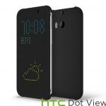 HTC One M8 Dot View Case - Warm Black (ของแท้)