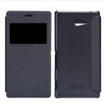 เคสฝาพับ Sony Xperia M2 Nillkin Sparkle Case - สีดำ