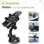 Dextra - 3 in 1 Uni. Cradle Mount Kit by Avantree ที่ติดมือถือในรถ