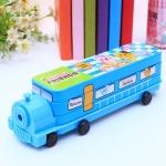 กล่องดินสอรถไฟสีฟ้า Animal Friends