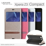เคสฝาพับ Sony Xperia Z3 Compact ของ USAMS Muge Series Slim Soft Leather Case