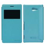 เคสฝาพับ Sony Xperia M2 Nillkin Sparkle Case - สีฟ้าเขียว