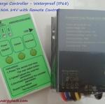 ตัวควบคุมการชาร์จแบตเตอรี่ แบบ MPPT ขนาด 30A 24V Waterproof IP68