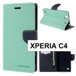 เคสฝาพับ Xperia C4 ของ Mercury Fancy Diary Leather Case
