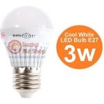 หลอดไฟ LED HOSHI E27 3W (CW) Day แสงสีขาว
