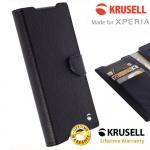 เคสฝาพับ Xperia X/X perfprmance ของ Krusell Boras FolioWallet Case - สีดำ