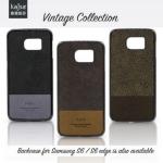 เคสฝาหลังหนังแท้ Samsung Galaxy S6 Edge ของ Kajsa Vintage Collection Case