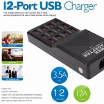 USB Fast Charger (12 Ports 5V 12A Output Max 3.5A)