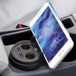 HOCO Multifunctional Cup Shape Car Charge ส่งฟรี EMS