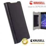 เคสฝาพับหนังแท้ Xperia Z5 ของ Krusell Kiruna Flip Case