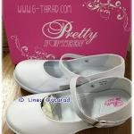 Pretty Popteen PT9902 - รองเท้านักเรียนหญิง/พยาบาล สีขาว