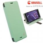 เคสฝาพับ Xperia M4 Aqua ของ Krusell Malmo Flip Wallet Case