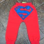 กางเกงแฟชั่นสำหรับเด็กสีแดงซุปเปอร์แมน
