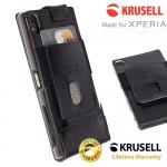 เคสฝาพับ Xperia Z5 Premuim ของ Krusell Ekero Flexi FlipWallet Case - สีดำ
