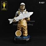 R-627 ถ้วยรางวัลคนตกปลา Fishing Trophy
