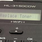 ทำไม Brother เปลี่ยนตลับใหม่แล้วยังขึ้น Replace Toner