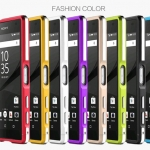 เคส Xperia Z5 แบบ Aluminum Metal Bumper Dual Colors Case