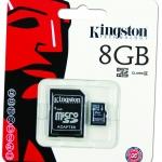 Kingston Micro SD Card - Class 4 - 8GB