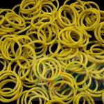100% Silicone Loom Band สีเหลืองมัสตาร์ด 600เส้น ( #18 )