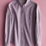 เสื้อเชิ้ตสีพื้นผ้า Oxford ทรง classic สีม่วง