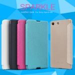เคสฝาพับ Xperia M5 ของ Nillkin Sparkle Leather Case
